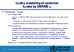 quality monitoring of medicines funded by unitaid 3