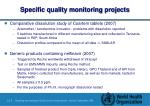 specific quality monitoring projects