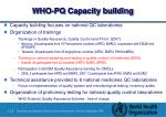 who pq capacity building