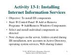 activity 13 1 installing internet information services
