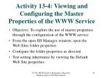 activity 13 4 viewing and configuring the master properties of the www service