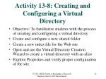 activity 13 8 creating and configuring a virtual directory