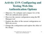 activity 13 9 configuring and testing web site authentication options