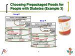 choosing prepackaged foods for people with diabetes example 3