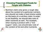 choosing prepackaged foods for people with diabetes3
