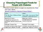 choosing prepackaged foods for people with diabetes4