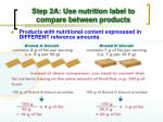 step 2a use nutrition label to compare between products2