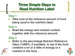 three simple steps to read nutrition label1