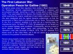 the first lebanon war operation peace for galilee 1982