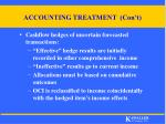 accounting treatment con t