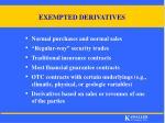 exempted derivatives