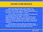 instructor profile