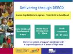delivering through deecd