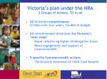 victoria s plan under the nra 3 groups of actions 53 in all