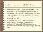an lisis comparativo bndes brasil
