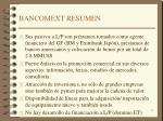 bancomext resumen