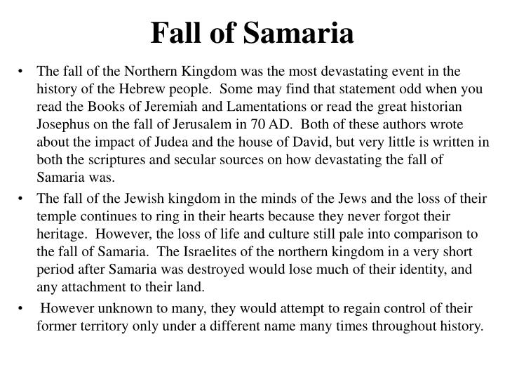 Fall of samaria