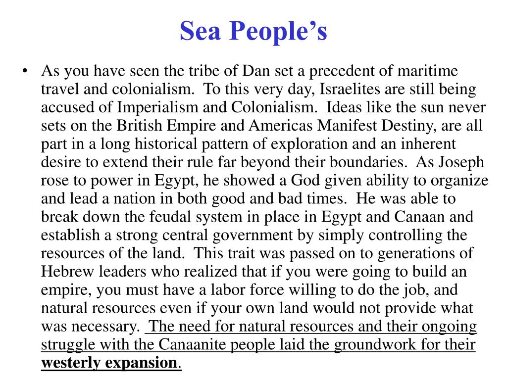 Sea People's