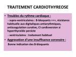 traitement cardiothyreose