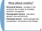 what affects mobility