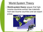 world system theory