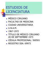 estudios de licenciatura