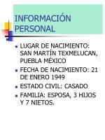 informaci n personal