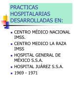 practicas hospitalarias desarrolladas en