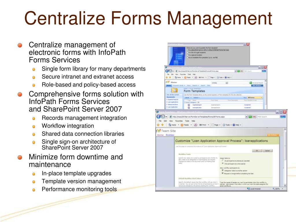 Centralize Forms Management