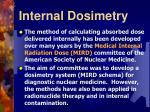 internal dosimetry