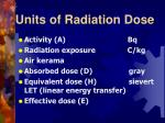 units of radiation dose