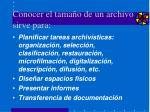 conocer el tama o de un archivo sirve para