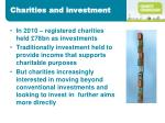 charities and investment