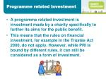 programme related investment