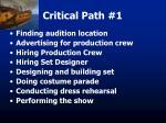 critical path 1