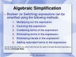 algebraic simplification1