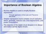 importance of boolean algebra