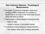 data collection methods physiological measurements