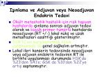 i nlama ve adjuvan veya neoadjuvan endokrin tedavi