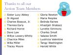 thanks to all our action team members