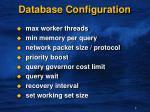 database configuration1