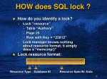 how does sql lock