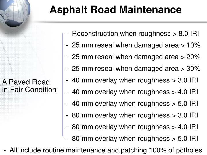 Asphalt Road Maintenance