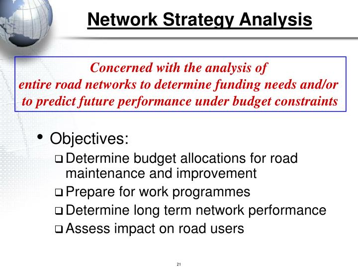 Network Strategy Analysis