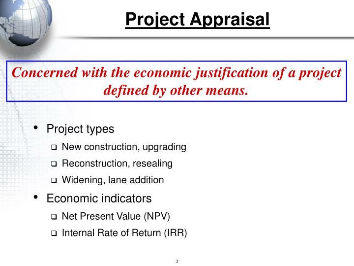 Project appraisal