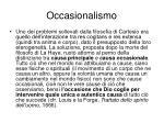 occasionalismo