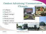 outdoor advertising communication channels