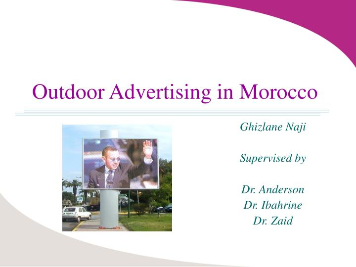 outdoor advertising in morocco n.