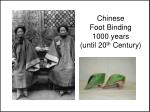 chinese foot binding 1000 years until 20 th century
