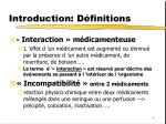 introduction d finitions